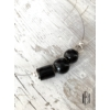 Kép 1/2 - Fekete vegyes háromgyöngyös nyaklánc
