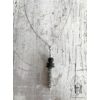 Kép 2/2 - Szürke kraklés hengeres hosszú nyaklánc