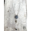 Kép 3/3 - Acélszürke háromlyukú medálos nyaklánc