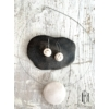 Kép 2/2 - Fehér- pezsgő pöttyös egymedálos- szett