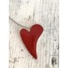 Kép 1/2 - Piros szív alakú egymedálos naklánc