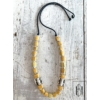Kép 2/2 - Sárga- matt sárga hosszú teli gyöngysor