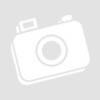 Kép 1/2 - Piros- fehér foltos gömb-gyöngyös hosszú nyaklánc bőrszálon