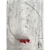 Kép 2/2 - Rózsapiros vegyes háromgyöngyös nyaklánc