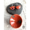 Kép 1/2 - Narancsvörös- tarka tányéros egymedálos- szett