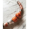 Kép 1/2 - Narancssárga feles gyöngysor