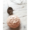Kép 1/2 - Rózsaszín mintás gömb medál láncon