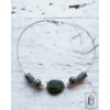 Kép 2/2 - Sötét türkiz-foltos kétlyukú medálos nyaklánc