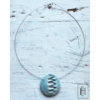 Kép 2/2 - Világos türkiz mintás egymedálos nyaklánc