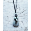 Kép 2/2 - Világos türkiz szőlőfürtös hosszú nyaklánc