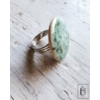 Kép 2/2 - Halványzöld pöttyös gyűrű