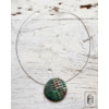 Kép 2/2 - Zöld egymedálos nyaklánc