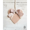 Kép 2/2 - Rózsaszín félig csipkés kis ajtódísz
