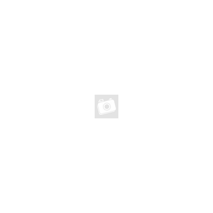 Narancsvörös- tarka gyöngyös hosszú nyaklánc bőrszálon