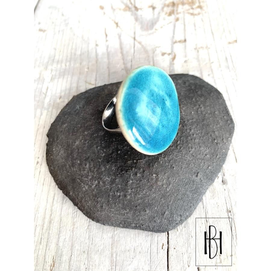 Aqua türkiz gyűrű